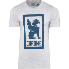 Chrome Large Lock Up T-Shirt Herren heather grey/navy graphic